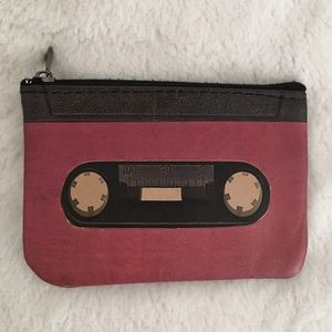 Leather Coin Pouch • Cassette Tape Graphic